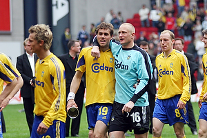 Johan Elmander (Br�ndby IF), Casper Ankergren (Br�ndby IF)