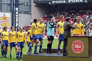 Jonas Kamper (Br�ndby IF), Morten Skoubo (Br�ndby IF), Daniel Agger (Br�ndby IF), Casper Ankergren (Br�ndby IF), Sebastian Sv�rd (Br�ndby IF), Kim Daugaard (Br�ndby IF), Mads J�rgensen (Br�ndby IF)