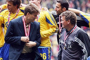 Michael Laudrup, cheftr�ner (Br�ndby IF), John Faxe Jensen, assistenttr�ner (Br�ndby IF)