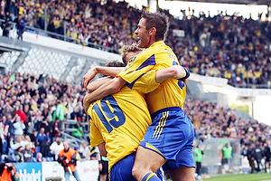 Johan Elmander, m�lscorer (Br�ndby IF), Morten Skoubo (Br�ndby IF), Martin Retov (Br�ndby IF)