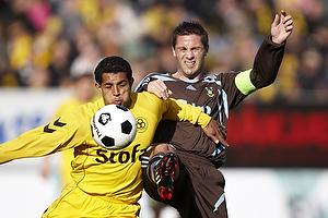 Gilberto Macena (AC Horsens), Martin Retov, anf�rer (Br�ndby IF)