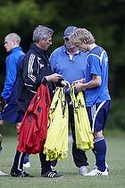 Henrik Jensen, assistenttr�ner (Br�ndby IF), Tom K�hlert, cheftr�ner (Br�ndby IF), Daniel Wass (Br�ndby IF)