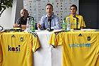 Tom K�hlert, cheftr�ner (Br�ndby IF), Anders Bjerregaard, sportsdirekt�r (Br�ndby IF), Jan Kristiansen (Br�ndby IF)