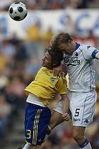 Peter Madsen (Br�ndby IF), Ulrik Laursen, anf�rer (FC K�benhavn)