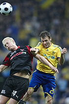 Thomas Rasmussen (Br�ndby IF), Ken Fagerberg (FC Midtjylland)