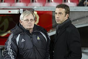 Tom K�hlert, cheftr�ner (Br�ndby IF), Allan Kuhn, cheftr�ner (Aab)