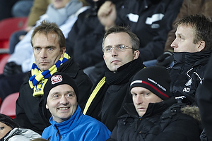 Ole Palm� (Br�ndby IF), Anders Bjerregaard, sportsdirekt�r (Br�ndby IF), Hermann Haraldson, adm. direkt�r (Br�ndby IF)