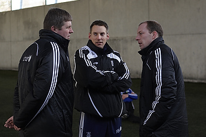 Kent Nielsen, cheftr�ner (Br�ndby IF), Kim Daugaard, assistenttr�ner (Br�ndby IF), Rene Skovdahl (Br�ndby IF)