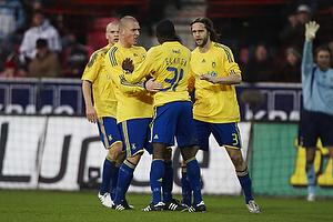 Joseph Elanga (Br�ndby IF), Morten Duncan Rasmussen (Br�ndby IF), Max von Schlebr�gge (Br�ndby IF)