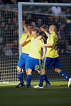 Michael Krohn-Dehli, m�lscorer (Br�ndby IF), Morten Duncan Rasmussen (Br�ndby IF), Samuel Holm�n (Br�ndby IF)