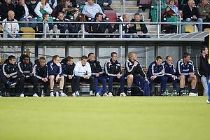 Kent Nielsen, cheftr�ner (Br�ndby IF), Kim Daugaard, assistenttr�ner (Br�ndby IF), Rene Skovdahl (Br�ndby IF), Morten Cramer, m�lmandstr�ner  (Br�ndby IF)