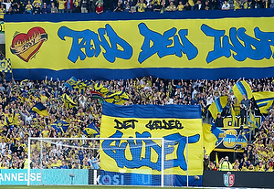 Tifo p� Faxetribunen, Br�ndby Stadion