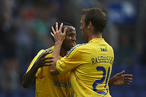 Ousman Jallow, m�lscorer (Br�ndby IF), Thomas Rasmussen (Br�ndby IF)
