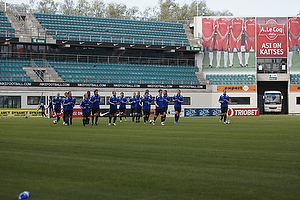 Tr�ning p� stadion i Tallinn, Estland