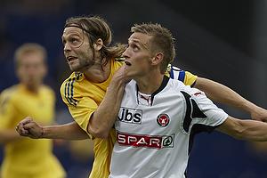 Max von Schlebr�gge, anf�rer (Br�ndby IF), Danny Olsen (FC Midtjylland)