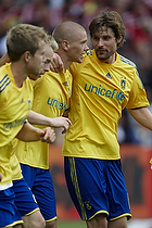 Samuel Holm�n, m�lscorer (Br�ndby IF), Peter Madsen (Br�ndby IF)