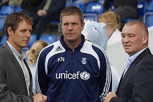 Flemming Poulsen, Kent Nielsen, cheftr�ner (Br�ndby IF), John Faxe Jensen, cheftr�ner (Randers FC)
