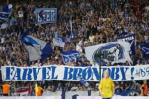 Hertha Berlin-fans med banner