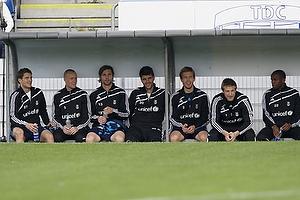 Jan Kristiansen (Br�ndby IF), Jan Frederiksen (Br�ndby IF), Peter Madsen (Br�ndby IF), Stefan Gislason (Br�ndby IF), Anders Randrup (Br�ndby IF), Michael T�rnes (Br�ndby IF)