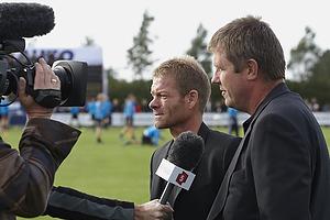 Kent Nielsen, cheftr�ner (Br�ndby IF), Bjarne Jensen, cheftr�ner (Blokhus FC)
