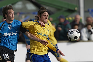 Peter Madsen, anf�rer (Br�ndby IF), Malthe Guldager (Blokhus FC)