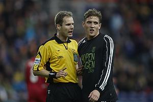 Michael Johansen, dommer, Morten Duncan Rasmussen (Br�ndby IF)