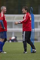 Michael Laudrup tr�ner med �rslev Boldklub
