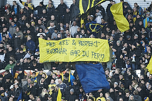 Banner mod Per Bjerregaard, formand (Br�ndby IF)