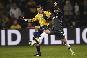 Thomas Rasmussen (Br�ndby IF), Alexander Fischer (Randers FC)
