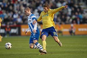 Johan Absalonsen (Ob), Jens Larsen (Br�ndby IF)