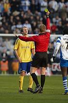 Michael Svendsen, dommer med advarsel til Remco van der Schaaf (Br�ndby IF)