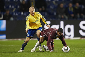 Samuel Holm�n (Br�ndby IF), Patrice Bernier (FC Nordsj�lland)