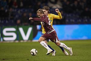 Nicolaj Agger (Br�ndby IF), Pierre Bengtsson (FC Nordsj�lland)