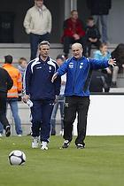 Henrik Jensen, cheftr�ner (Br�ndby IF), Ove Pedersen, cheftr�ner (Esbjerg fB)