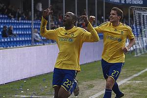 Ousman Jallow, m�lscorer (Br�ndby IF), Jan Kristiansen (Br�ndby IF)