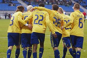 Peter Madsen (Br�ndby IF), Alexander Farnerud (Br�ndby IF), Ousman Jallow (Br�ndby IF), Mike Jensen (Br�ndby IF), Daniel Wass (Br�ndby IF), Samuel Holm�n (Br�ndby IF)