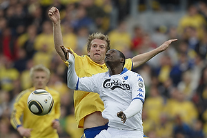 Remco van der Schaaf (Br�ndby IF), Dame N´Doye (FC K�benhavn)
