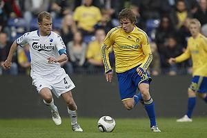 Jens Larsen (Br�ndby IF), Hjalte Bo N�rregaard (FC K�benhavn)