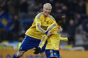 Ousman Jallow, m�lscorer (Br�ndby IF), Alexander Farnerud (Br�ndby IF)