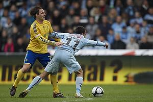 Mike Jensen (Br�ndby IF), Mikkel Beckmann (Randers FC)