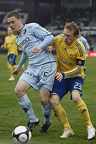 Kasper Lorentzen (Randers FC), Michael Krohn-Dehli, anf�rer (Br�ndby IF)