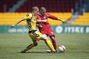 Rawez Lawan (FC Nordsj�lland), Morten Rasmissen (AC Horsens)
