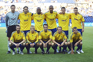 Stephan Andersen (Br�ndby IF), Max von Schlebr�gge, anf�rer (Br�ndby IF), Ousman Jallow (Br�ndby IF), Mikkel Bischoff (Br�ndby IF), Jan Kristiansen (Br�ndby IF), Martin Bernburg (Br�ndby IF), Mikael Nilsson (Br�ndby IF), Daniel Wass (Br�ndby IF), Thomas Rasmussen (Br�ndby IF), Michael Krohn-Dehli (Br�ndby IF), Samuel Holm�n (Br�ndby IF)