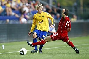 Daniel Wass (Br�ndby IF), Franz Burgmeier (FC Vaduz)