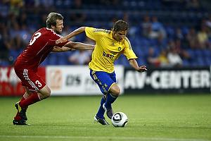 Jens Larsen (Br�ndby IF), Pascal Bader (FC Vaduz)