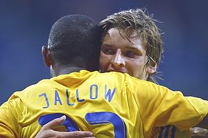 Ousman Jallow, m�lscorer (Br�ndby IF), Jens Larsen (Br�ndby IF)