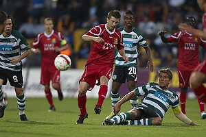 Andreas Laudrup (FC Nordsj�lland), Daniel Carrico, anf�rer (Sporting Lissabon)