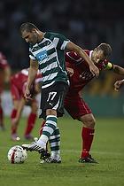Simon Vukcevic (Sporting Lissabon), Nicolai Stokholm, anf�rer (FC Nordsj�lland)