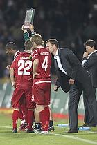 Morten Wieghorst, cheftr�ner (FC Nordsj�lland), Henrik Kildentoft (FC Nordsj�lland), Andreas Laudrup (FC Nordsj�lland)