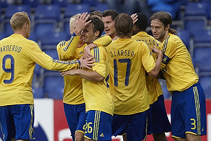 Alexander Farnerud (Br�ndby IF), Daniel Wass (Br�ndby IF), Mike Jensen (Br�ndby IF), Jan Kristiansen (Br�ndby IF), Jens Larsen (Br�ndby IF), Max von Schlebr�gge, anf�rer (Br�ndby IF)